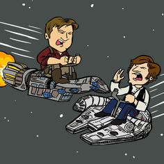 Rival smugglers. Firefly and Star Wars. I need this shirt.
