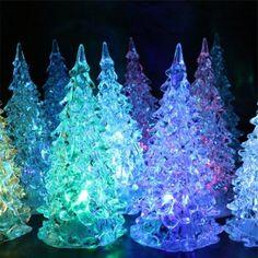 Colors Changing LED Lights Mini Christmas Tree - White Mobile