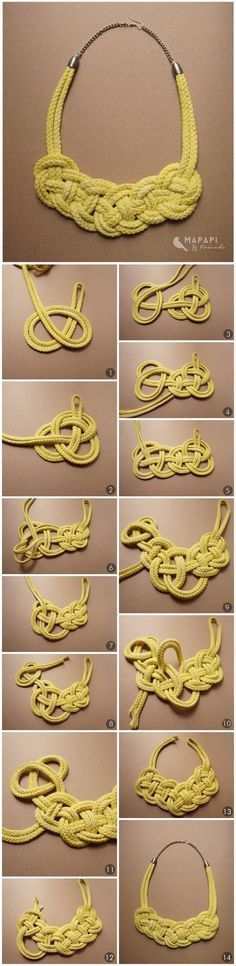 DIY Seil Kette Knotted Necklace http://mapapi-and-friends.blogspot.co.at/: