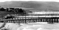 A rare view of the Palos Verdes Peninsula and where the Hollywood Riviera in Redondo Beach is now--back before all the houses were built!