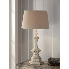 Crestview Collection Wooden Column Table Lamp