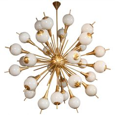 Murano Sputnik Chandelier | From a unique collection of antique and modern chandeliers and pendants  at https://www.1stdibs.com/furniture/lighting/chandeliers-pendant-lights/