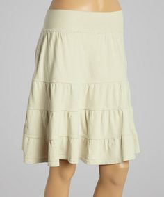 Another great find on #zulily! Natural Tiered Skirt by Fresh Produce #zulilyfinds
