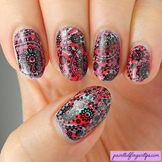 Review: Born Pretty Store Paisley Water Decals - Painted Fingertips