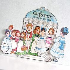 1970s Vintage Paper doll set Ginghams in the Park