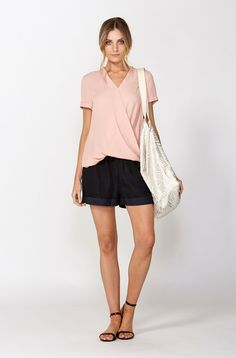 The best of what's new! Shop the Short Sleeve Cross Front Top in stores and online now www.decjuba.com.au @Decjuba