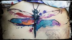 #tattoo #tatuaggio #watercolor #dragonfly #draw #butterfly #cheyenne #pen #ink #inked #suicide #inkedgirls #libellula #spirit #nerodivenere