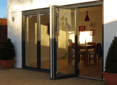 Folding sliding doors are also known as the bifolding doors. They curl up and stash against the wall and this offers endless application possibilities and the very reason of their popularity. #BifoldingDoorsBillericayUSA   #bifoldingdoors