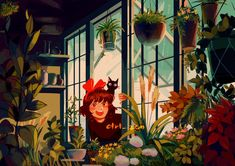 Otaku, Crossover, Japanese Animated Movies, Studio Ghibli Art, Ghibli Movies, Fanart, Kiki's Delivery Service, Witch Art, Hayao Miyazaki