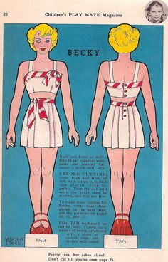 Becky Paper Doll by Pennelainer, via Flickr
