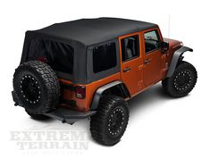 Barricade 10-13 4-Door OEM Replacement Wrangler Soft Top w/Door Skin - Black Diamond J40003 (10-15 Wrangler JK 4 Door) - Free Shipping $379.99