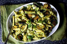 pasta and fried zucchini salad – smitten kitchen Pasta Recipes, New Recipes, Salad Recipes, Vegetarian Recipes, Cooking Recipes, Zucchini Salad, Zucchini Fries, Bon Appetit, Ottolenghi Recipes