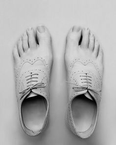 "From the series ""Shoes are made of skin"", by artist Julie Bates (found thru www.mymodernmet.com)."