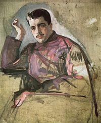 Fashion Influences: Sergei Diaghilev Ballets Russes. Portrait of Sergei Diaghilev by Valentin Serov (1904)