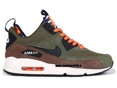 Nike Officiel Nike Air Max 90 Sneakerboot Chaussures Pas Cher Pour Homme Army Green - noir - brun rougeâtre - blanc