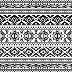 Ethnic Seamless Pattern In Black And White Color Tribal Pattern Aztec Vector Design Ikat Motifs Vector and PNG Motif Navajo, Navajo Pattern, Color Vector, Vector Design, Vector Art, Vector File, Abstract Geometric Art, Geometric Graphic, Vector Pattern