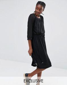 Monki Exclusive Pleat Detail Dress- ASOS- ON SALE