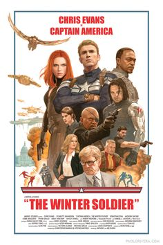 Captain America The Winter Soldier poster by Paolo Rivera. Hands down one of my all-time favorites.
