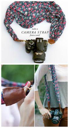 Cómo hacer una correa para la cámara de fotos - http://petit-on.com