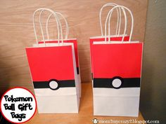 Running away? I'll help you pack.: Pokemon Ball Gift Bags