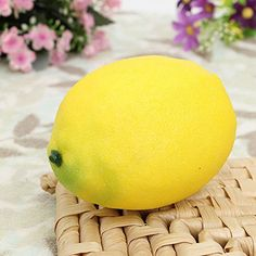 4U-Lucky 1 PCS Artificial Plastic Home Decorative Lemons Yellow *** Find out more about the great product at the image link.