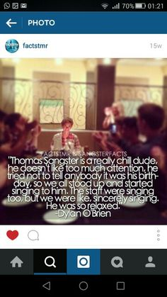 That's what I like about Thomas>>>>> this is my favorite thing about Thomas' shyness excuse me