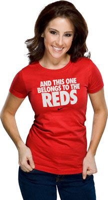 Cincinnati Reds Women's Nike Red 'And This One Belongs To The Reds' Local T-Shirt