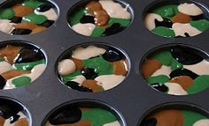 Camo Cupcakes, this will come in handy one day I'm sure!
