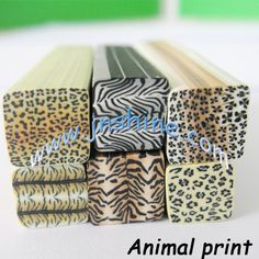 Animal print and lots of other polymer clay