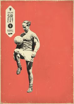 """Bosnian graphic designer Zoran Lucić realized """"Sucker for Soccer"""", a series of portraits of football icons in a vintage and childish style. Athletes featured are sport stars from the 50's to present days. Unfortunately posters are still not on sale."""