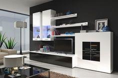 Mueble de salón de diseño modelo Violeta 2. Visita http://www.mueblesbonitos.com/mueble-de-salon-teresa-negro-y-blanco-1226.html para conocer sus materiales, acabados y dimensiones.