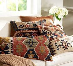 Shop the latest decorative pillows and home decor from Pottery Barn. Find new home accessories and complete the room with timeless style. Pillow Room, Living Room Pillows, Pillow Headboard, Bolster Pillow, Pillow Talk, Room Rugs, Kilim Pillows, Throw Pillows, Accent Pillows