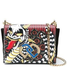 Dsquared2 mini 'DD' crossbody bag (73.720 RUB) ❤ liked on Polyvore featuring bags, handbags, shoulder bags, mini handbags, white shoulder bag, mini crossbody, tattoo purse and white crossbody