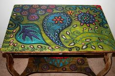 beautiful painted coffee table