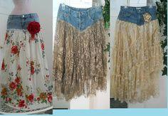SAIAS jeans com seda e renda ...linda | Flickr – Compartilhamento de fotos!