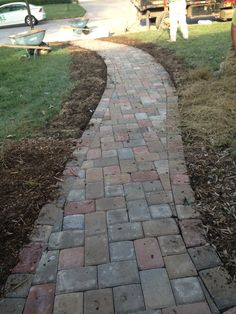 paver path - hard work, but worth every sore muscle | paths and