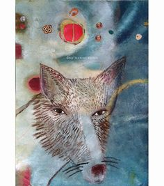 Original painitng  Fox Guided By Moons by katherinedunn on Etsy
