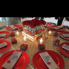 Coca-Cola Centerpiece at the Whitlock Inn by Carithers Weddings
