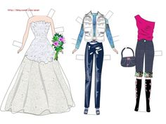 3번째 이미지 Paper Dolls, Barbie, Party, Blog, Image, Toys, Fashion, Activity Toys, Moda