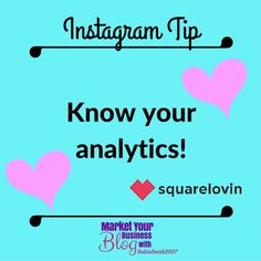 Instagram Tip: Know your analytics! Squarelovin.com is awesome at this!!! And it's FREE!!! It will show you which of your pics are doing the best. And even when is the optimal time to post so your followers see it! Go check it out!    Want to learn more about building your business using Instagram? Or want to work closely with me? Click the link in my bio @RobinSmith2007 and join my community!  #marketyourbusinessblog Instagram Tips, Follow Me On Instagram, Instagram Feed, My Community, Check It Out, Knowing You, Followers, Robin, Marketing