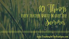 Sweet, sweet summertime is upon us. • Teaching in the Fast Lane. |  If you are a teacher I am guessing you fall into one of two categories. Either you spent your first week of summer break holed up in your house doing nothing or you did all the things you have been putting off throughout the school year. No judgment here either way. Every teacher should do what they feel like over the summer. Teacher Summer, What To Read, Differentiation, Kindergarten Activities, Sweet Sweet, Have Time, Quotes To Live By, Back To School, Summertime