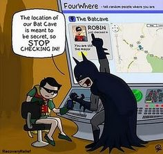 Batman and Robin on Foursquare hahahaha