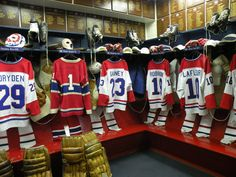 Montreal Canadian's Dressing room at the hockey fall of fame