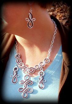 Celtic Queen Wire Work Necklace  Choose Your by RefreshingDesigns, $36.00