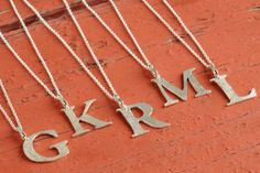 Pendant Necklace - Silver Letter