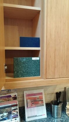 Green accent counter tile