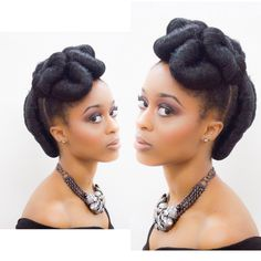 Natural Updo Hairstyle Natural Hair Types, Natural Hair Updo, Natural Hair Care, Crochet Braids, Protective Hairstyles For Natural Hair, Protective Styles, Black Girls, Updos, Kinky