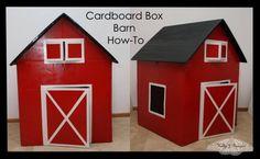 DIY Cardboard Box Barn Tutorial
