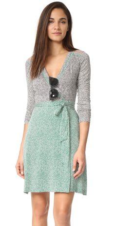 Diane von Furstenberg Long Sleeve Wrap Dress | SHOPBOP Extra 25% Off Sale Styles Use Code: SCORE17