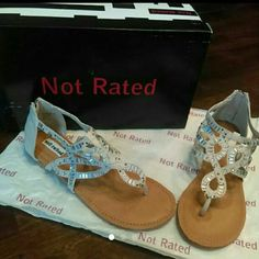 Women's Sandals New in box || will ship In original box/wrapping || size: 7 || Brand: Not Rated || Style: Corona Del Mar || Color: Nude || Feel Free to send an offer || Listed on different sites , so get them before they're gone! || Not Rated  Shoes Sandals